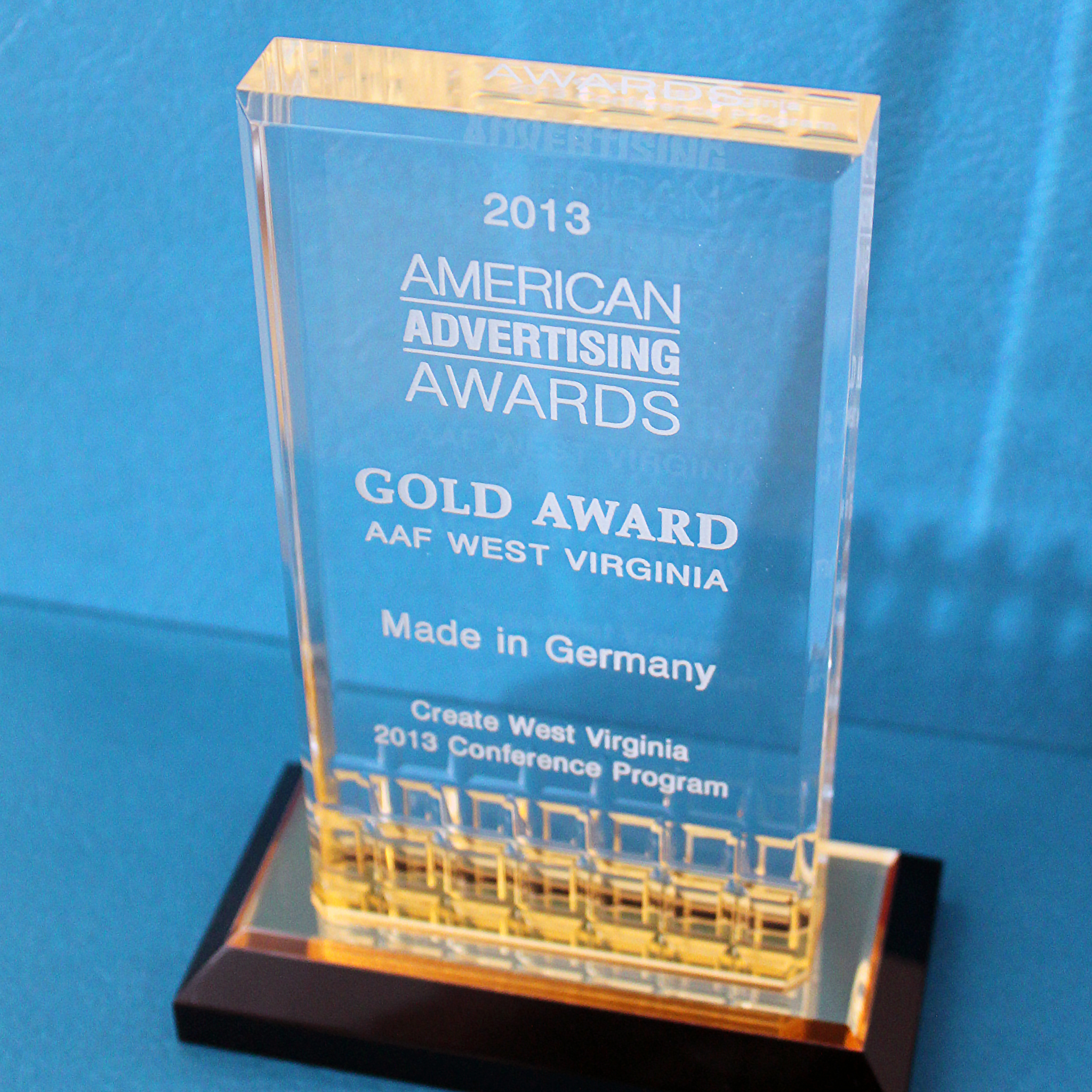 2013 Gold Advertising Award