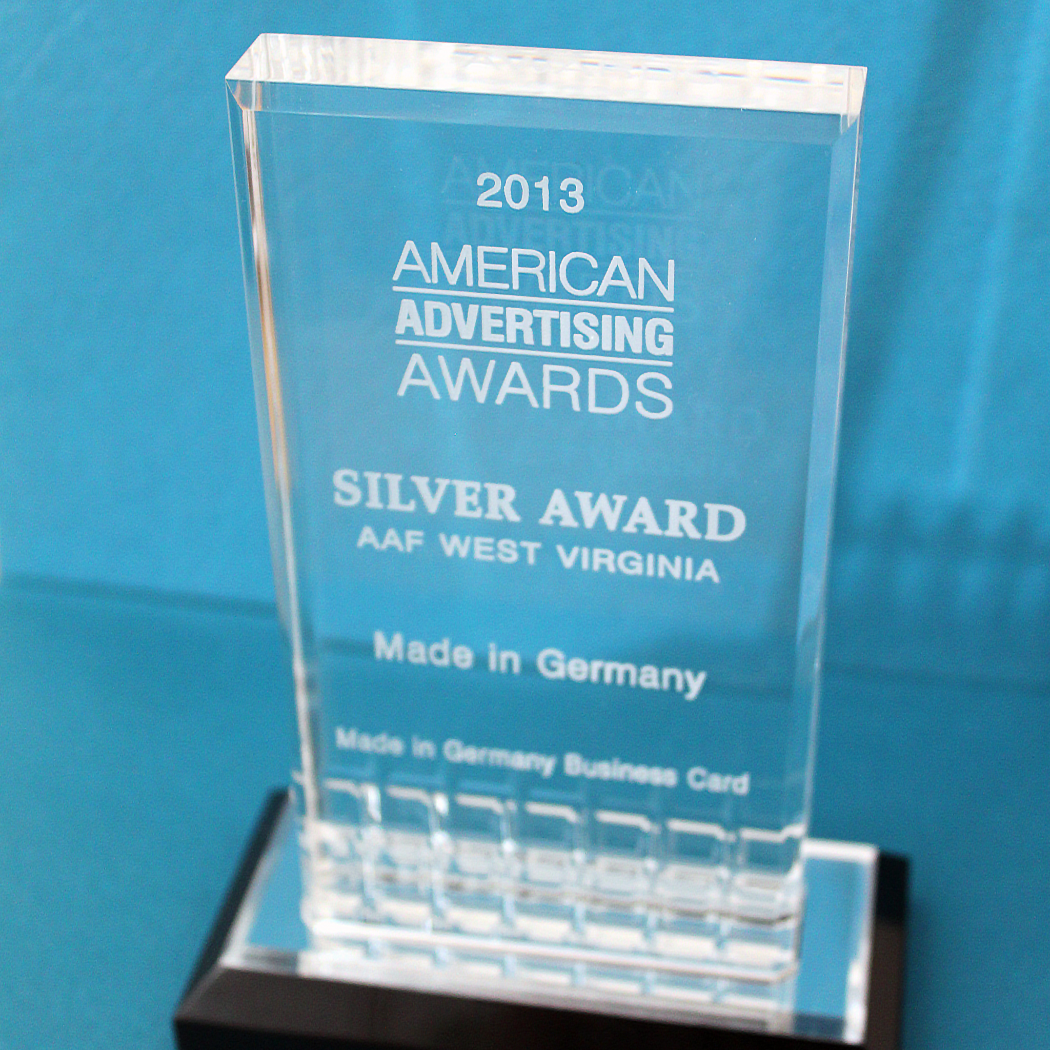 2013 Silver Advertising Award
